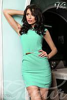 Элегантное женское платье футляр без рукава застежка потайная молния сзади коттон, фото 1