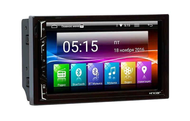 """Универсальная 2DIN магнитола с GPS Incar AHR-1861 на Android 7 экран 7"""" GPS сенсорная"""