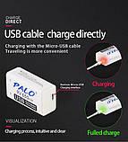 Акумулятор Крона 9V 650mAh Li-Ion PALO зарядка через micro USB Пинпоинтер Металодектор, фото 2