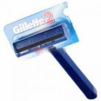 Бритвенный станок однораз Gillette 2 с двойн. лезвием на блистере