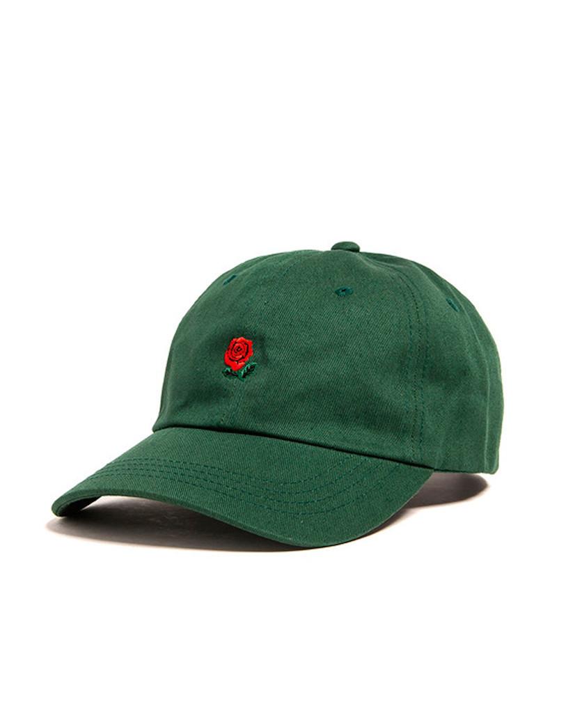 Зелёная кепка бейсболка The Hundreds (с розой) мужская женская