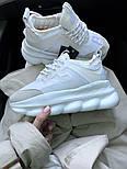 Женские кроссовки Versace Chain Reaction 2 Chainz White. Живое фото (Реплика ААА+), фото 4