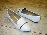 Т390 Женские туфли белые
