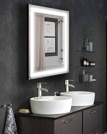 Зеркало LED со светодиодной подсветкой Престиж 2-080 800х600 ммзеркало с подсветкой в ванную  , фото 2
