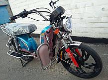 Электрический скутер грузовой Партнёр Delta 500w 60v 12 Синий, фото 3