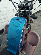 Электрический скутер грузовой Партнёр Delta 500w 60v 12 Синий, фото 2