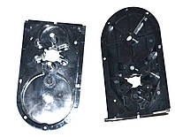 Пластиковый низ корпуса редуктора для мясорубки Saturn/Delfa