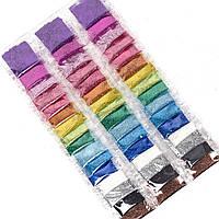 Декоративные блестки в пакетиках, разные цвета, глиттер, 1 штука