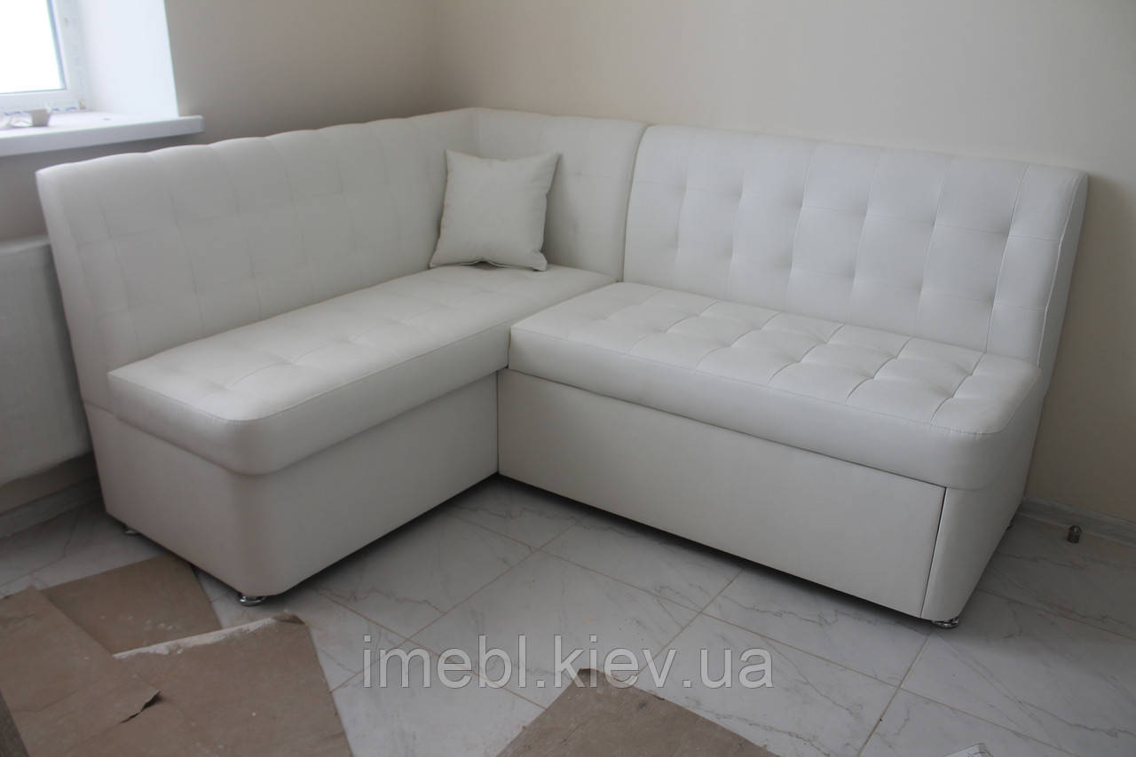 Кухонный уголок со спальным местом и нишей для хранения (Белый)