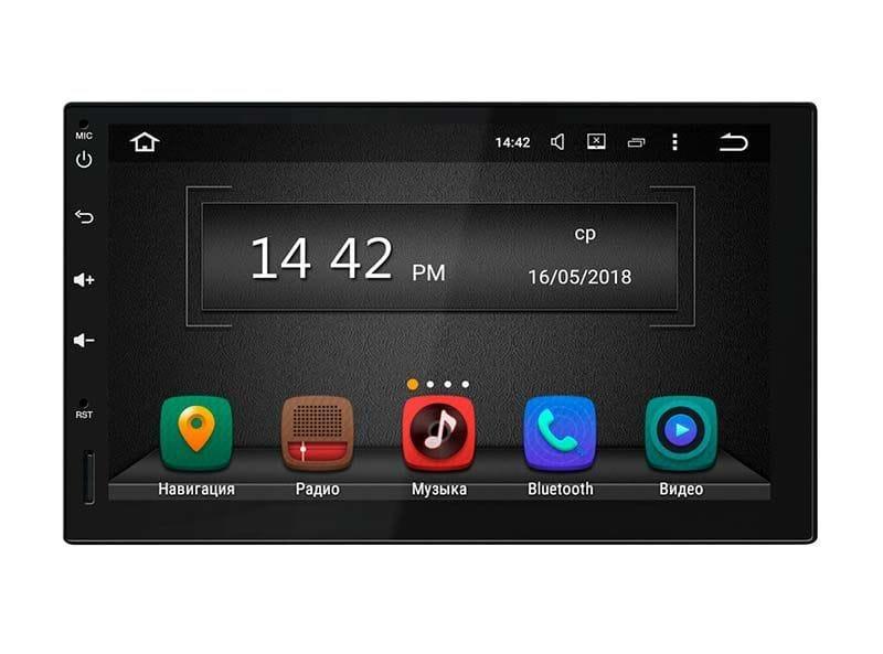 """Универсальная 2DIN магнитола с GPS Incar AHR-9280 Экран 7"""", Android 6 антибликовое покрытие"""