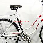 Городской велосипед Салют Ретро 28 дюймов бело-красный, фото 6