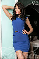 Элегантное женское платье футляр без рукава застежка потайная молния сзади коттон , фото 1