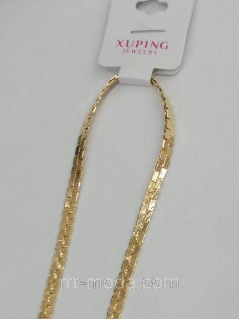 31d212a04727 Ювелирная, позолоченная цепь унисекс с интересным переплётом Xuping.  Элитные цепи ...