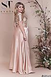 Шикарное женское вечернее платье со съемной юбкой  48,50,52р.(5расцв) , фото 8