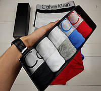 Мужское нижнее белье Calvin Klein Steel Набор трусов боксеры Келвин кляйн 5 штук