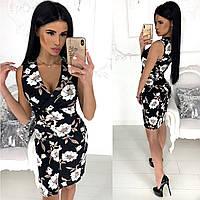 Платье женское без рукавов (4 цвета) - Черный АА/-1235, фото 1