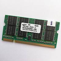 Оперативная память для ноутбука MIX Kingston, Samsung, A-Tech SODIMM DDR 266MHz 1Gb CL2.5 Б/У, фото 1