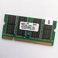 Оперативная память для ноутбука MIX Kingston, Samsung, A-Tech SODIMM DDR 266MHz 1Gb CL2.5 Б/У