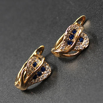 "Серьги женские ""Novella"" Xuping Jewelry (позолота)."