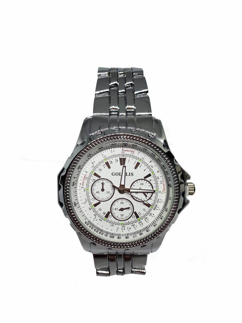 Часы кварцевые мужские на браслете Goldis 36-74 металлик