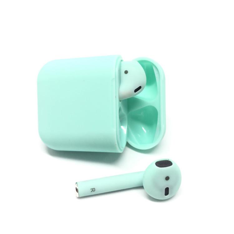Бездротові навушники SUNROZ i12 Bluetooth навушники вкладиші Зелений (SUN3927)