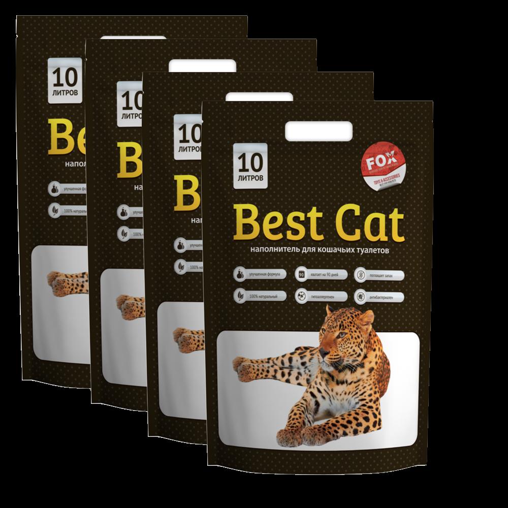 Силикагель Best Cat 10 л * 4 шт  (40л ) + бесплатная доставка по всей Украине !