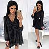 Ніжна шифонова сукня жіноча (4 кольори) - Чорний АА/-1239