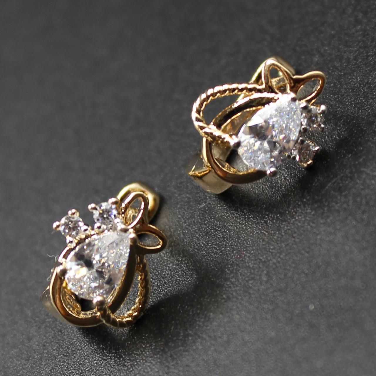 "Серьги женские ""Ophelin"" Xuping Jewelry (позолота)."