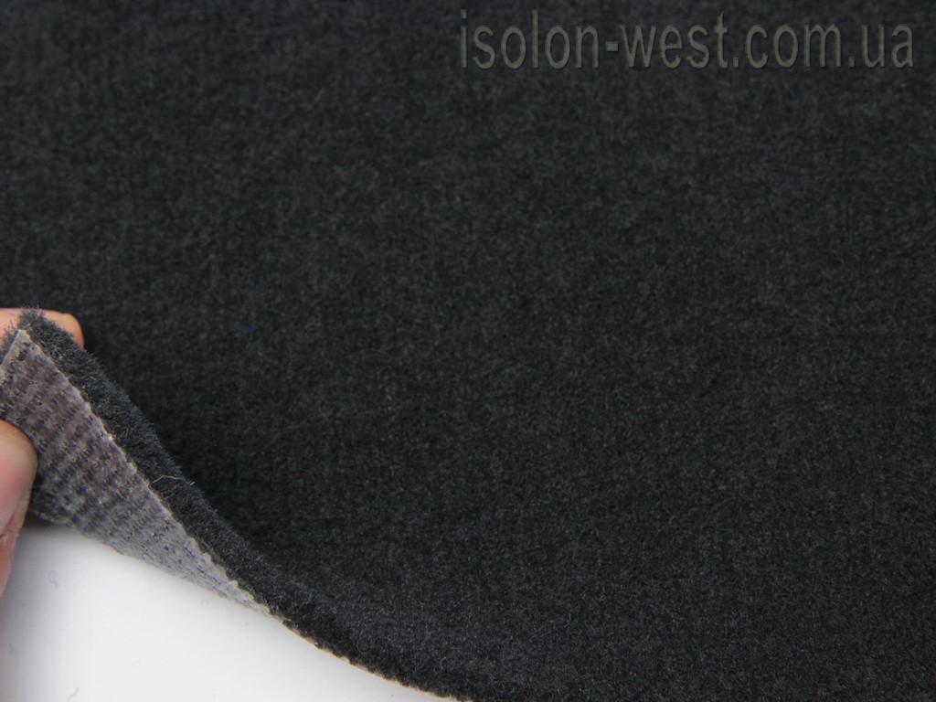 Автоковролин черный ES Folio на ПВХ подложке, ширина 1.54 м.