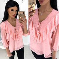 Женская шифоновая блузка (4 цвета) - Розовый АА/-1241, фото 1