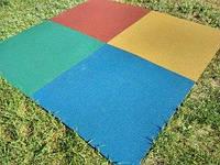 Травмобезопасное гумове покриття для дитячих та спортивних майданчиків 1000х1000 мм, Товщина 20 мм