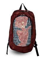 Рюкзак молодежный с принтом Девушка абстракция.