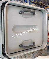 Люк автомобильный металлический, турецкий. Размер 75×60