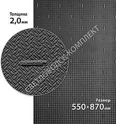 Резина подмёточная XA014 ONE MICHELIN (Франция), р. 550*870*2мм, цв. черный (black)