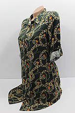 Женская рубашка-туника с длинным рукавом штапель оптом в Хмельницком, фото 2