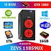 Супер игровой ПК ZEVS PC 11859UX i3 8100 + GTX 1060 6GB