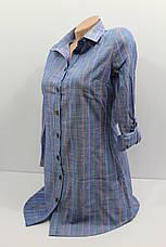 Женская рубашка-туника с длинным рукавом оптом в Хмельницком, фото 3
