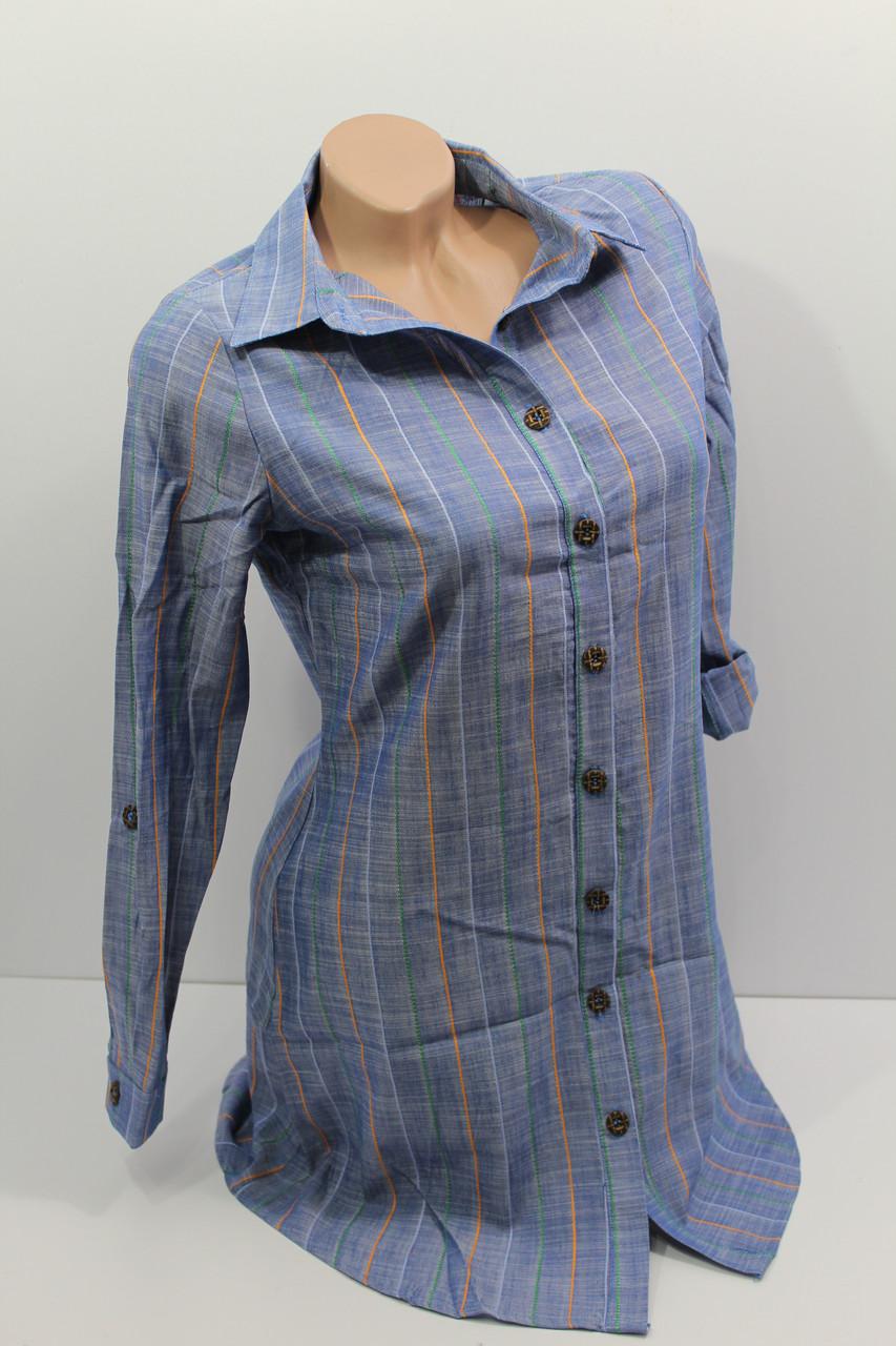 Женская рубашка-туника с длинным рукавом оптом в Хмельницком