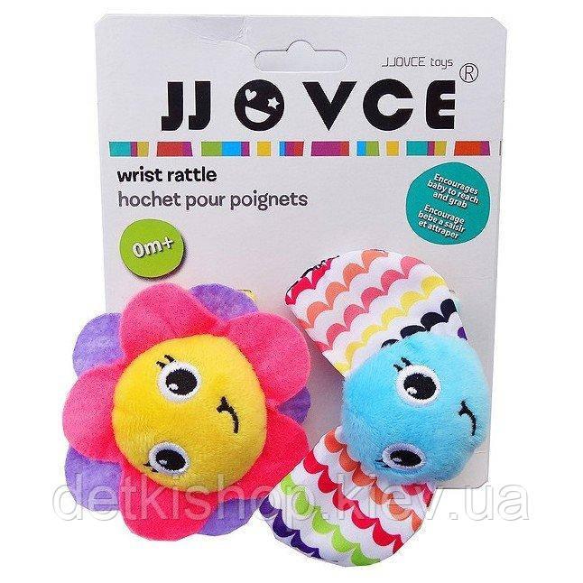 Игрушка на ручки «Бабочка и цветочек» JJovce (2 штуки)