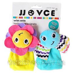 Іграшка на ніжки «Метелик і квітка» JJovce (2 штуки)