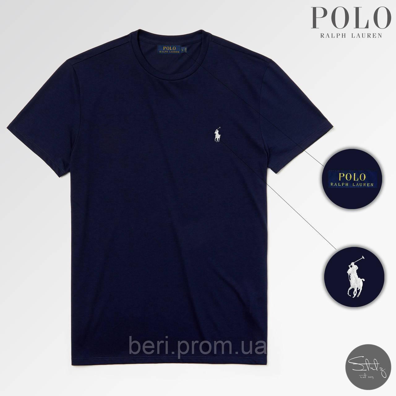 Мужская классическая футболка Polo Ralph Lauren | Чоловіча класична футболка Поло Ральф Лорен (Темно-Синий)