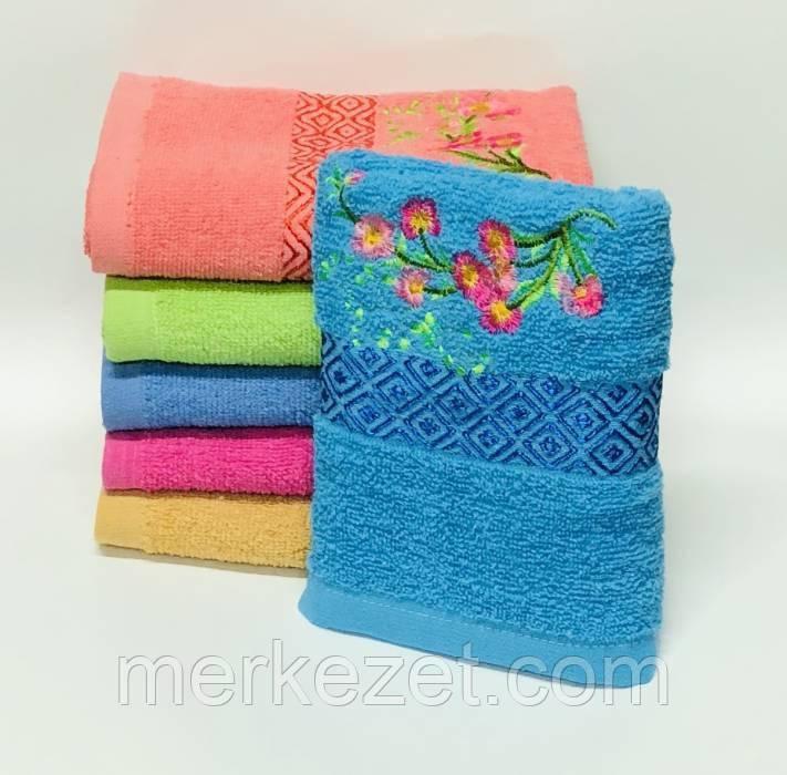 """Полотенце махровое для лица. Лицевое полотенце """"Роуз"""". Пляжное полотенце"""