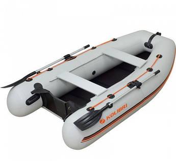 Надувная моторная лодка Kolibri КМ-280DL Лайт с пайолом слань-книжка