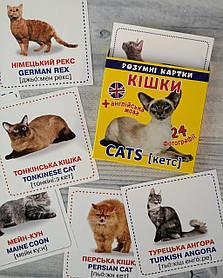 Розвиваючі картки Вундеркінд: Розумні картки. Кішки 105379 БАО Україна