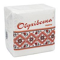 Салфетка гостевая Обуховская, 23*24, 1-слойн,  80 шт