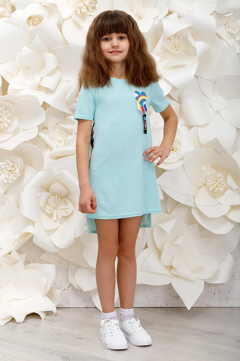 Платье детское Love мята
