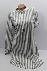 Женское платье-рубашка с длинным рукавом оптом в Хмельницком