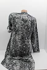 Женское платье-рубашка с длинным рукавом штапель оптом в Хмельницком, фото 2