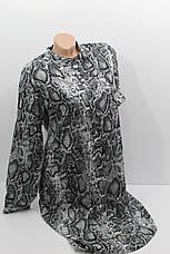 Женское платье-рубашка с длинным рукавом штапель оптом в Хмельницком, фото 3