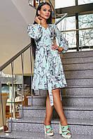 Платье 12-1113 - бирюза: S M L XL, фото 1